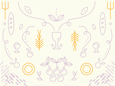 Food Illustration symmetry design graphic monoline nonprofit illustration