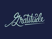 Gratitude lettering