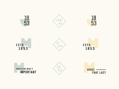 Identity system ornaments branding typography illustration