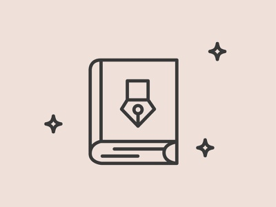Design is Storytelling book branding vector design illustration