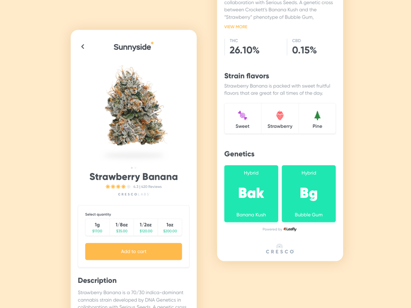 002 | Sunnyside Cannabis product design ui design uxdesign ecommerce store products oil marijuana concentrates cbd app ux ui product mobile ios hemp design cannabis