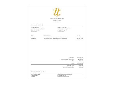 Tunatone Invoice layout receipt documentation invoices stationary design invoice template document design brand rollout document design brand documents branding stationary invoicing invoice layout invoice invoice design