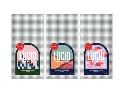 LUCID Coffee Packaging branding geometric art packaging illustration