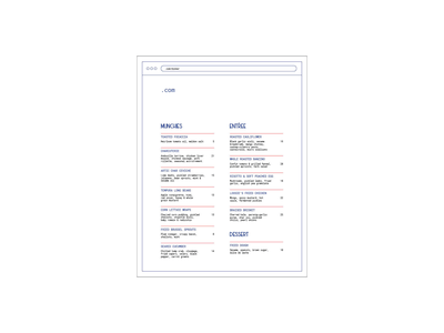 .com Menu branding print menu