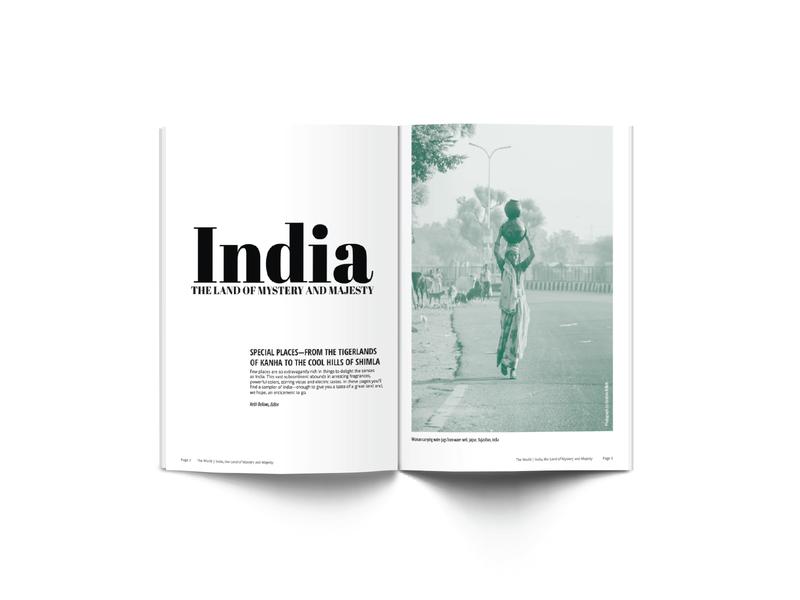 Magazine Article typography magazine design layout magazine