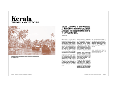 India Article print magazine print design layout magazine layout