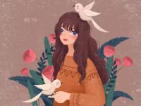Retro Series - Autumn and Birds
