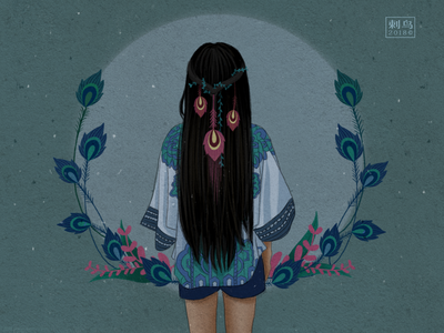 Blue Moon design character illustrator illustration