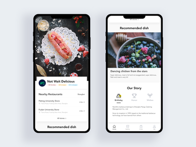 Food APP design app ui