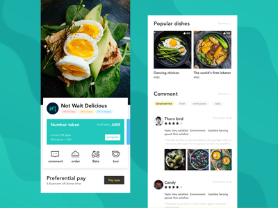 Food APP typography ux ui design