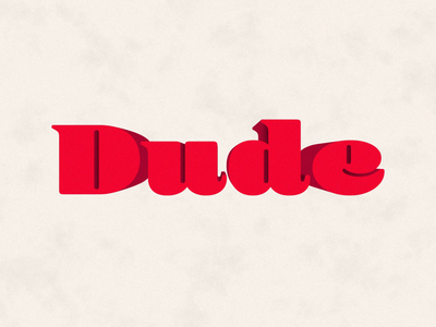 Dude motion loop animation type dude after effects