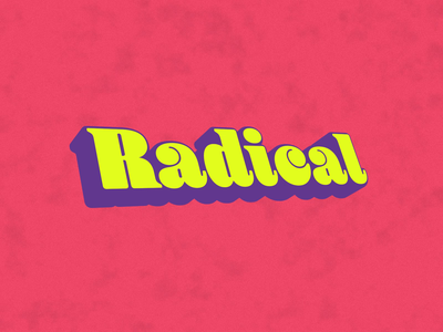 Radical radical text type loop motion animation after effects