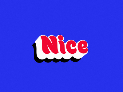 Nice bouncy blue red nice type text loop motion animation after effects