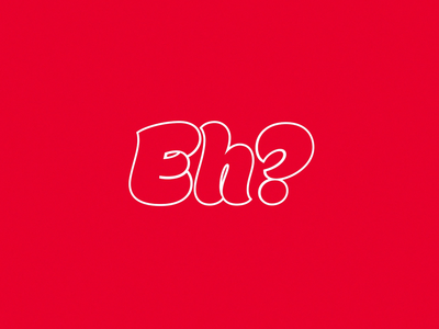 Eh? loop 3d white red canadian eh typography text type animation motion after effects