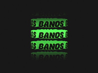 Bands motion green black type text loop after effects bands 3d