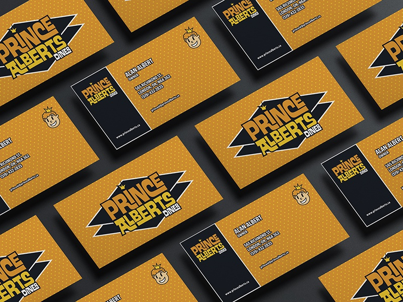 Prince albert business card by shane strazdins dribbble prince albert business card mockup reheart Images