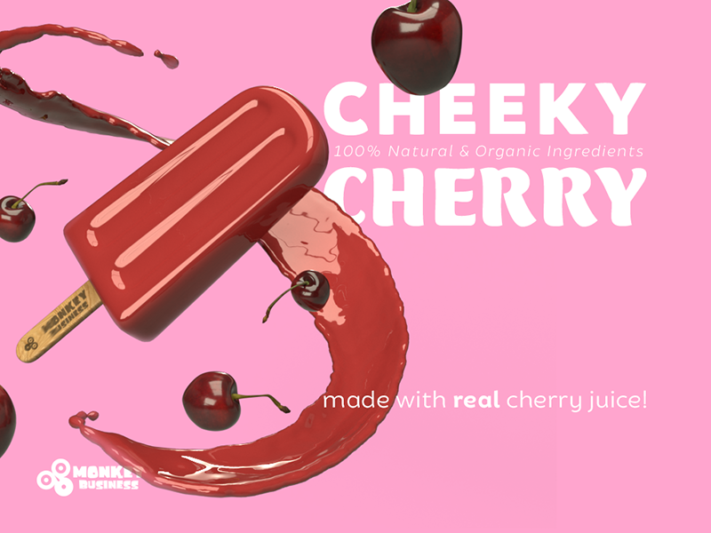 Cheeky Cherry Pop juice organic natural treat frozen popsicle cherry cheeky red