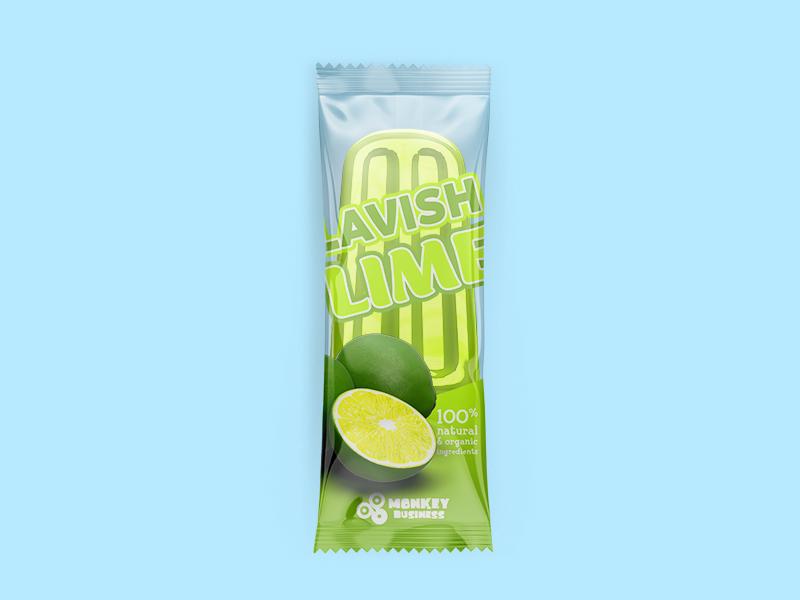 Lavish Lime Package business monkey packaging 3d summer popsicle lime lavish ice green blue