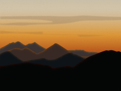 Mountain Sunset feels ambient illustration enviroment landscape mountain sunset