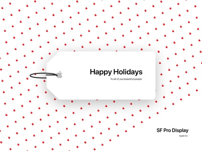 weekly warm-up #16 fonts gift tag holiday weekly warm-up san francisco sf pro apple