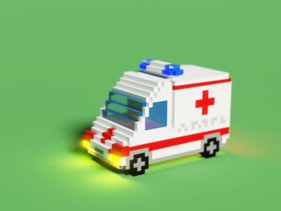 Voxel Ambulance - Front
