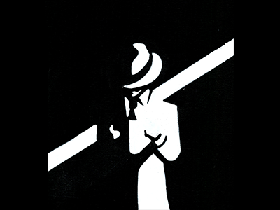 The Observer minimal man reading book lover book man with hat hat bold illustration black and white hand crafted illustration pen and paper hand drawn illustration design drawn on paper acrylic marker