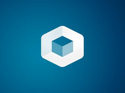 Logo icon design. Circa 2012 hexagon icon logo