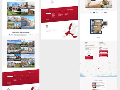 Real estate site skewed