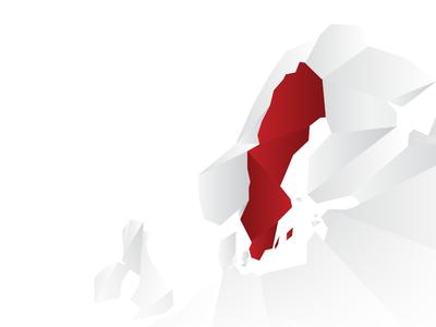 Map of Sweden finished sweden map
