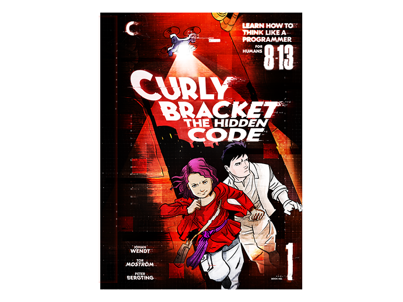 Curly Bracket The Hidden Code glitch comic cover book