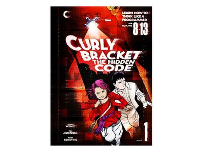 Curly Bracket The Hidden Code glitch comic cover book