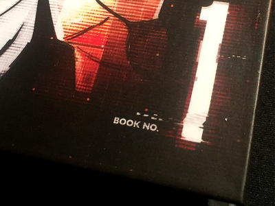 Curly Bracket - closeup glitch book