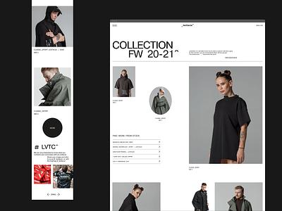 Levitacia^ Store ux elegant ecommerce design ui concept minimal design typography ecommerce