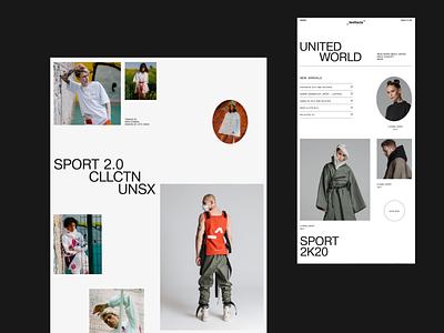 LVTC^ minimal swiss style ecommerce clear ux ui layout concept desktop