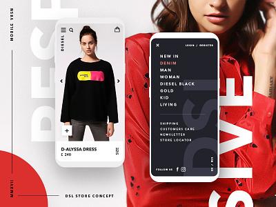 📌✌️DSL store mobile concept responsive artwork concept e-commerce card promo app design ui ux mobile minimal