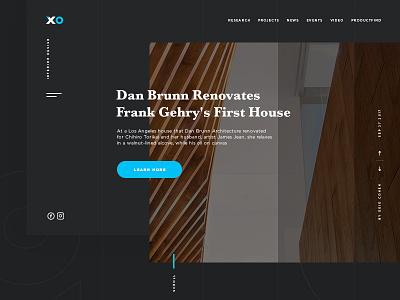 XO design ux ui desktop concept web design interior architect