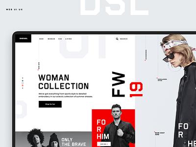 Dsl Сoncept Store store design aev-dsgn agency product web ui ux desktop e-commerce landing page typography minimal layout concept design