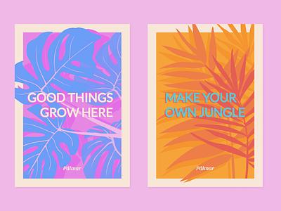 Pálmar Branding plant illustration vector poster branding