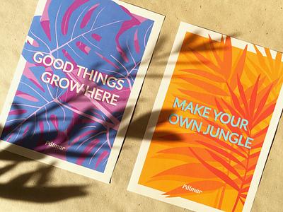 Pálmar Branding poster plant vector illustration branding