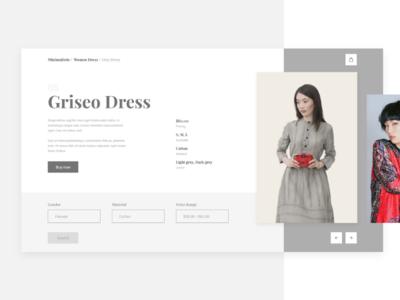 Minimalist Fashion Web | #Exploration