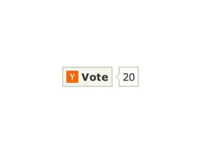 Hacker News Button button like tweet vote hacker news