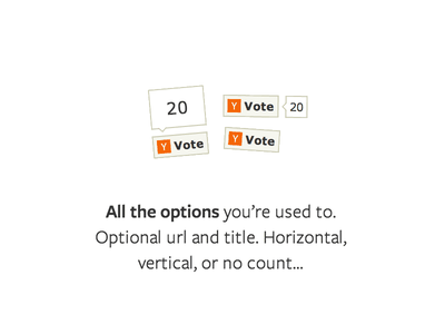 Hacker News Button Feature button like tweet vote rotate hacker news