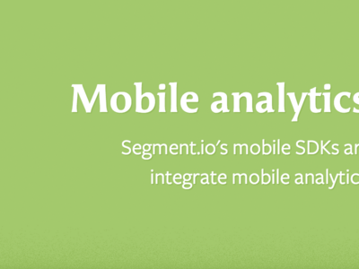 Mobile Landing Page mobile analytics animation toggle iphone green freight sans ff angie