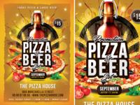 Pizza   Beer Set Flyer