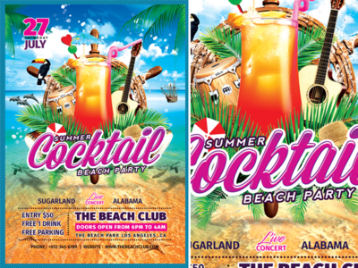 Summer Cocktail Beach Party