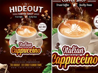Coffee Shop Flyer Set