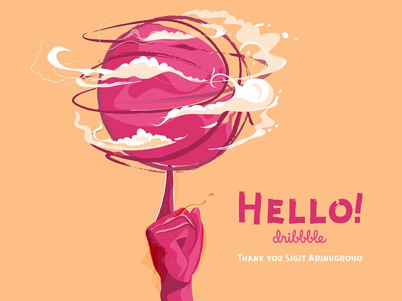 Dribbble Debut basketball illustration debut dribbble