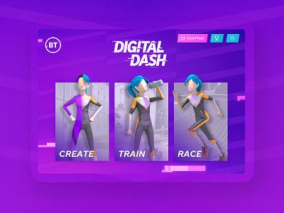 BT Digital Dash health branding marketing race tech digital bt design ui design mobile app user interface ux ui