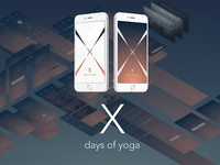 App UI Design: X Days of Yoga