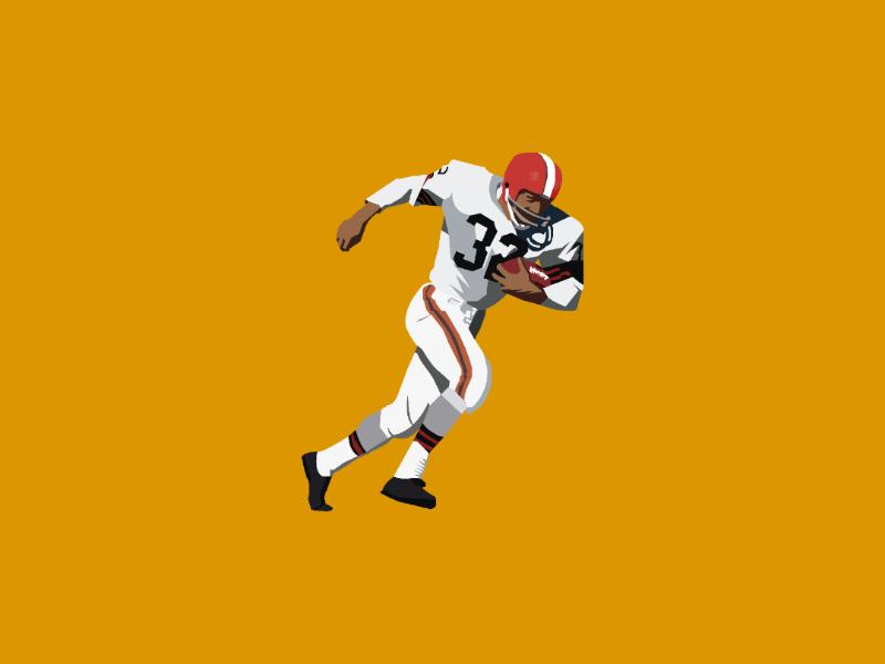 Jim Brown nfl100 cleveland browns challenge helmet artist art success game illustration nfl design illustrator vector